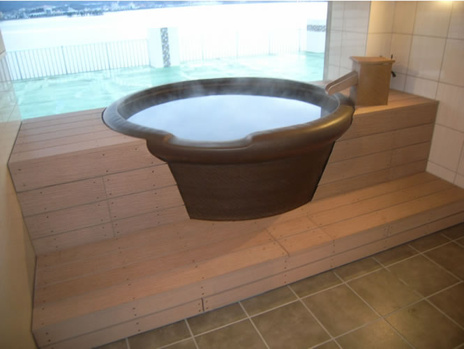 旅館の浴槽!水に強いので最適です!(株式会社大前組様ご提供-島根県)