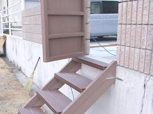 人工木 階段