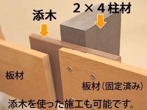 人工木フェンス 柱