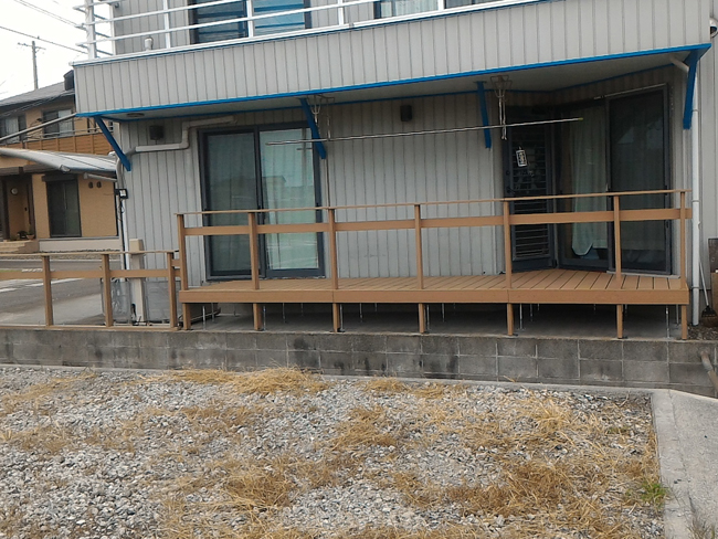 ウッドデッキの施工例(静岡県 まつながホームテリア様ご施工)