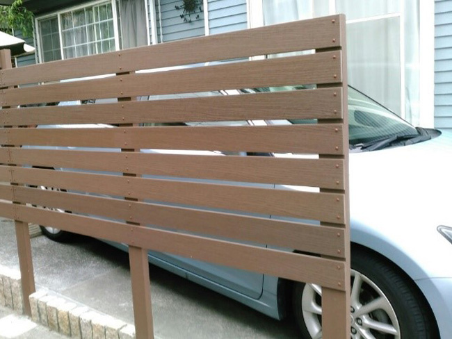 フェンスの施工例(東京都 セントラル企画様ご施工)