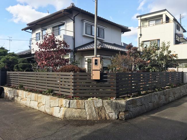 目隠しフェンスのDIY施工例(愛知県 I.T様 ご施工)