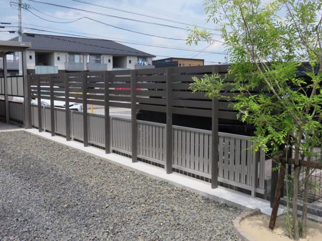 目隠しフェンスの施工例(愛知県 ヤスモトハウス様ご施工)