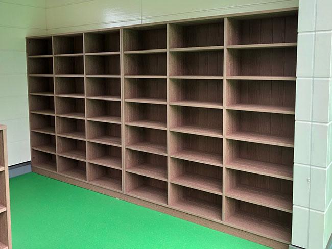 収納棚の施工例(宮城県 有限会社 東栄木工所様 ご施工)