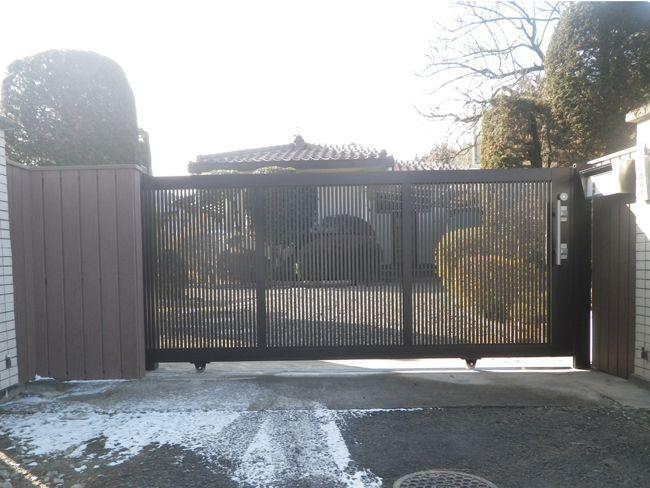 門塀の施工例(福島県 長尾工業様 ご施工)