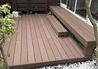 人工木材施工例