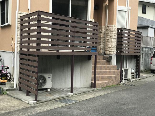 個人様宅の目隠しフェンス(神奈川県 和光住設組合様 ご施工)