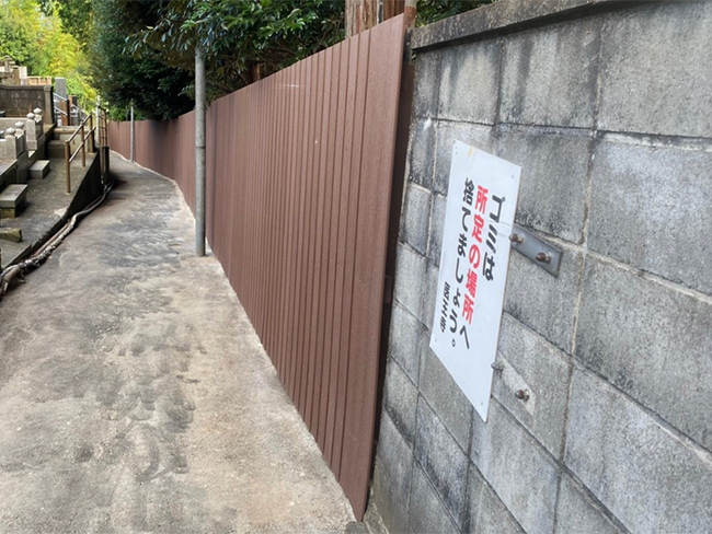 縦張りフェンスの施工事例(静岡県 有限会社 岩本工務店様ご施工)
