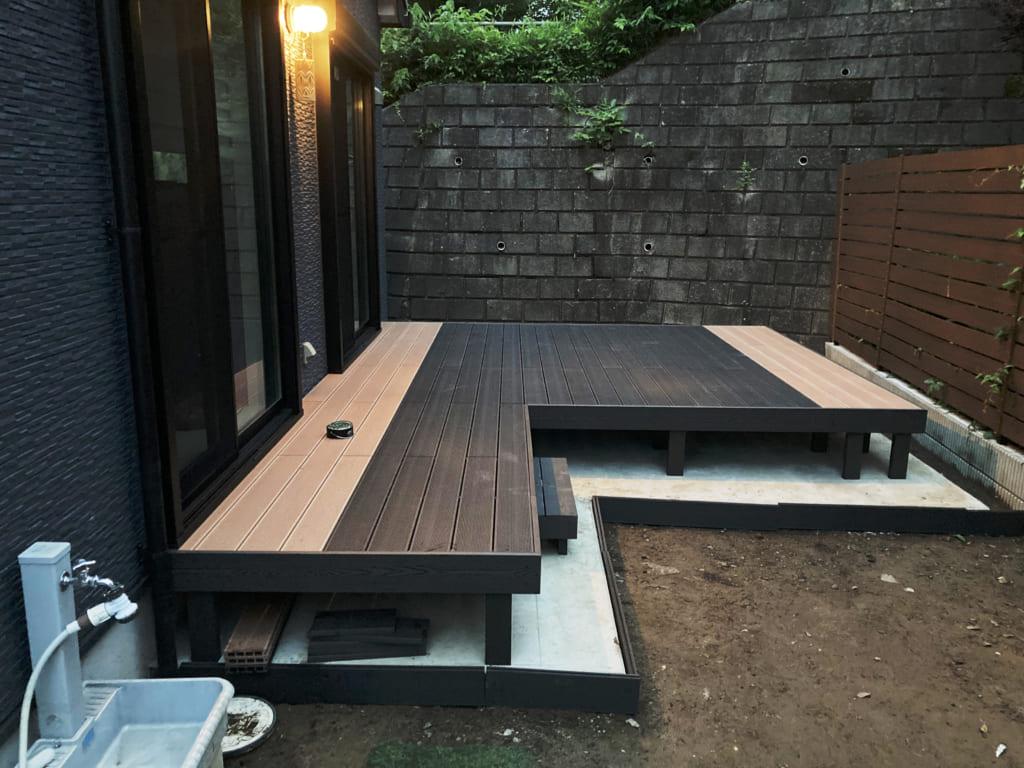 人工木施工例