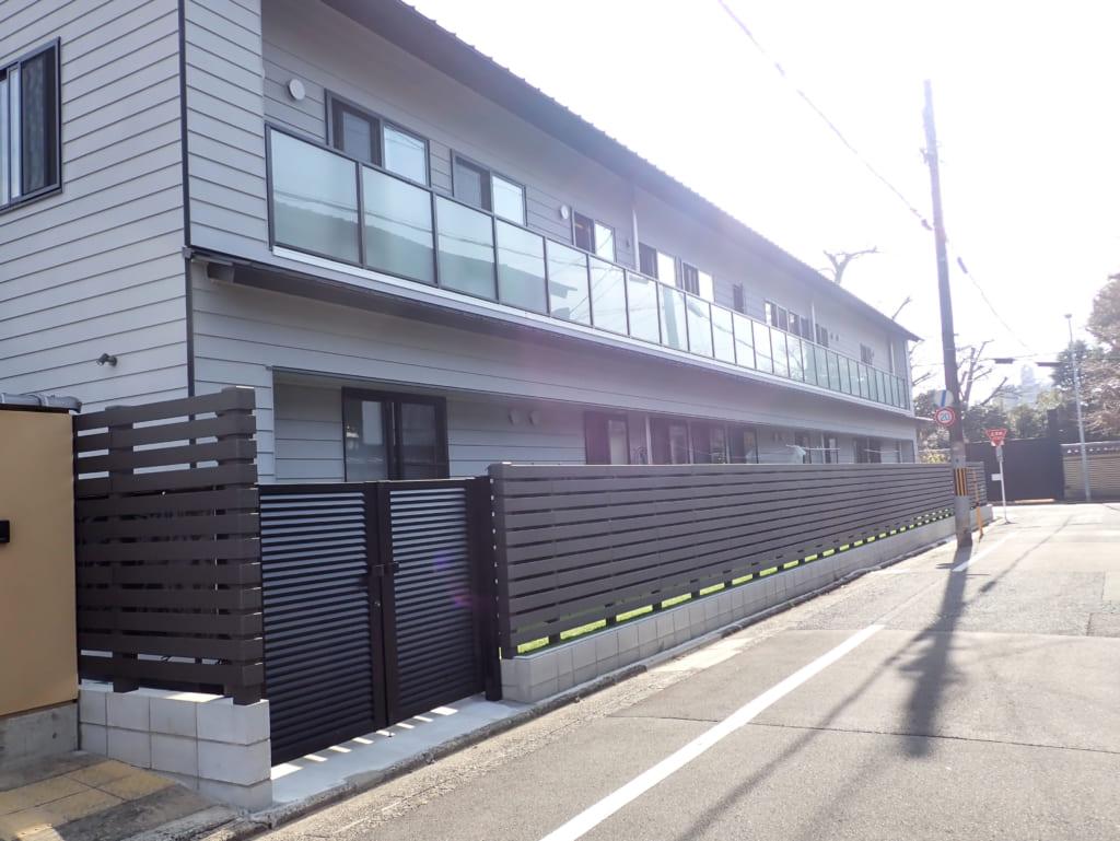 保育園の目隠しフェンス(京都府 株式会社 デザオ建設様 ご施工)