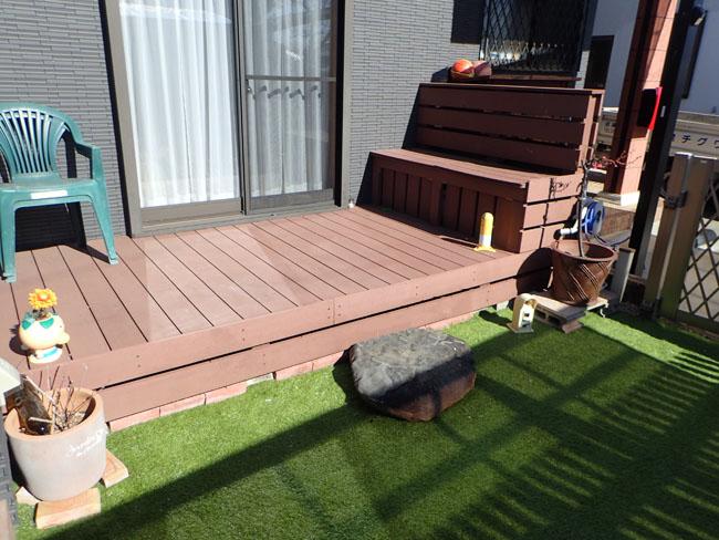 ウッドデッキ・フェンス・ベンチの施工例(静岡県 有限会社 カワグチ建設様ご施工)