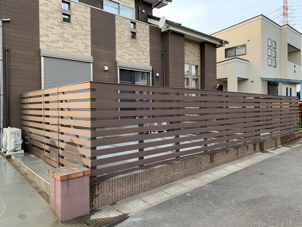 個人様宅の目隠しフェンス(神奈川県 DAiRA様ご施工)